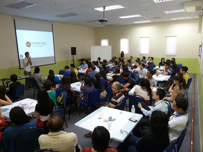 Daryll Tan sharing his testimony