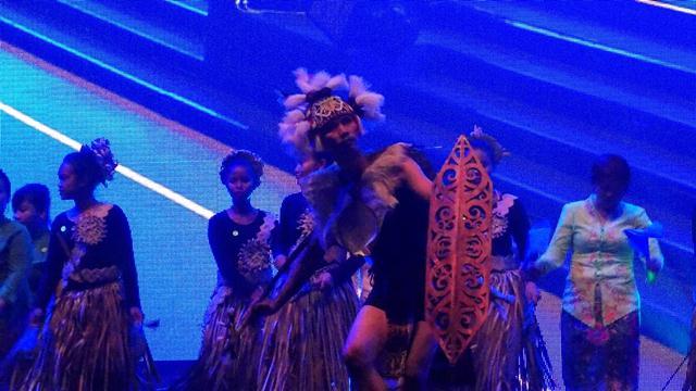 The SEMOA Orang Asli dance team