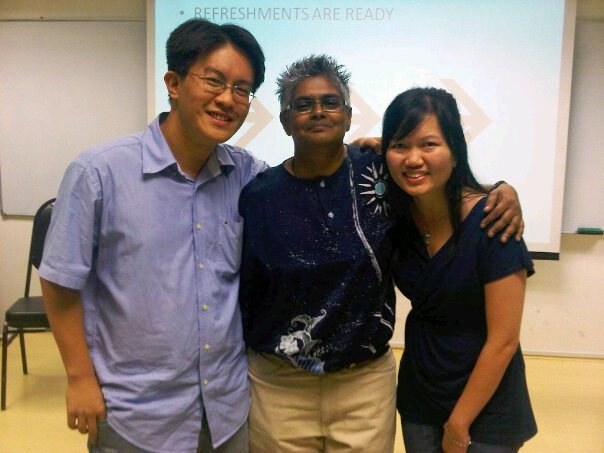 Su Chen (most right) and her husband with Annette Arulrajah (middle) from FES during her college days in MMU Cyberjaya Christian Fellowship