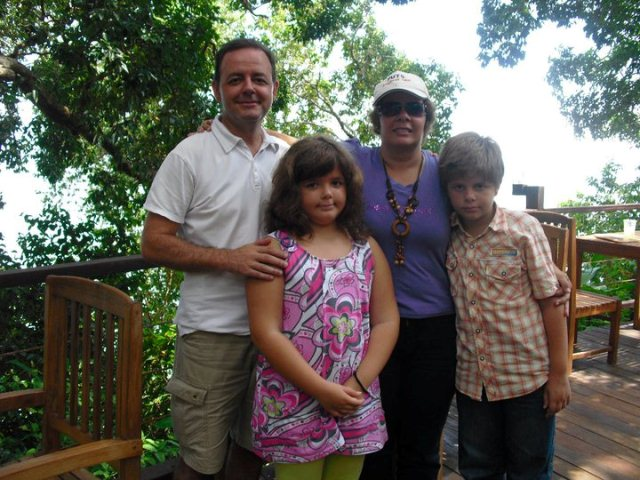 Fernando Brito (left most) with his wife and children