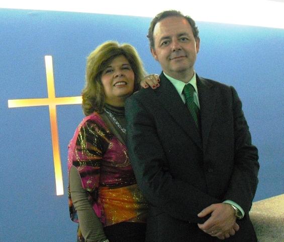 Brito (right) with his wife Sonia