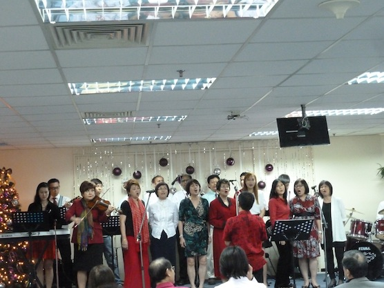 Choir band for Christmas led by Bryan Gan