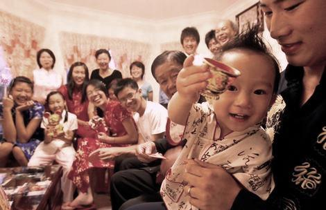 Pic shows the Lam Family gathered with all their extended family members at their Cabramatta home in preparation for the Chinese New Year.