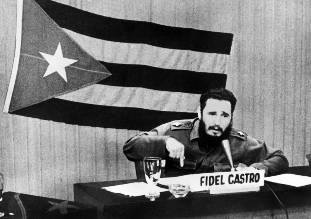 Fidel Castro during the Cuba Missile Crisis