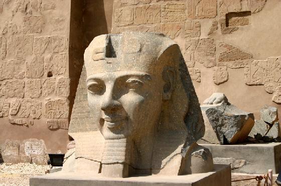 Statue believed to depict Rameses II