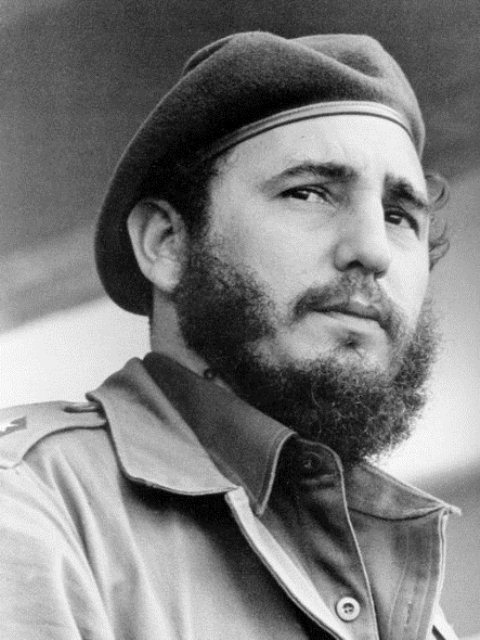 Fidel Castro during his younger days