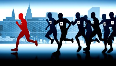 stock-footage-silhouettes-of-runners-winner-in-front-of-the-runners-group-of-people-running-and-taking-part-in
