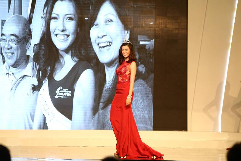 Carey Ng on the runway