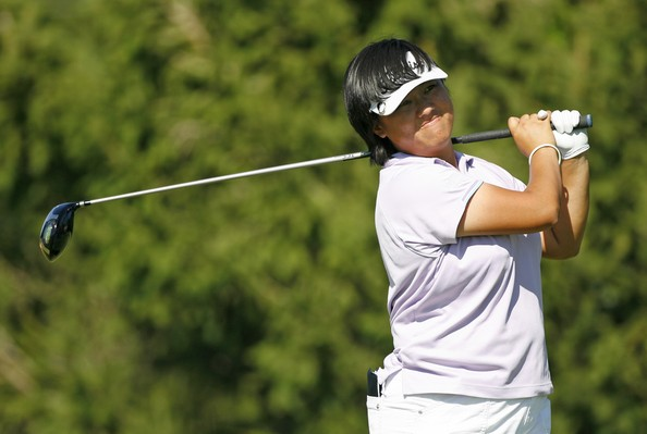 Siew Ai hits her shot during the second round of the State Farm Classic at Panther Creek Country Club in Springfield, Illinois in 2007.