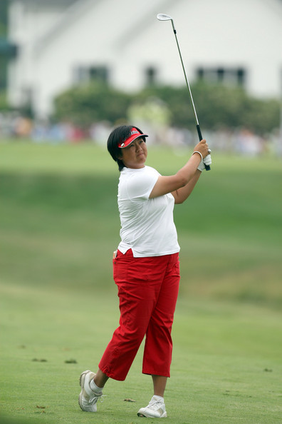 Siew Ai hitting her shot during the final round of the 2007 McDonalds LPGA Championship in Havre de Grace, Maryland
