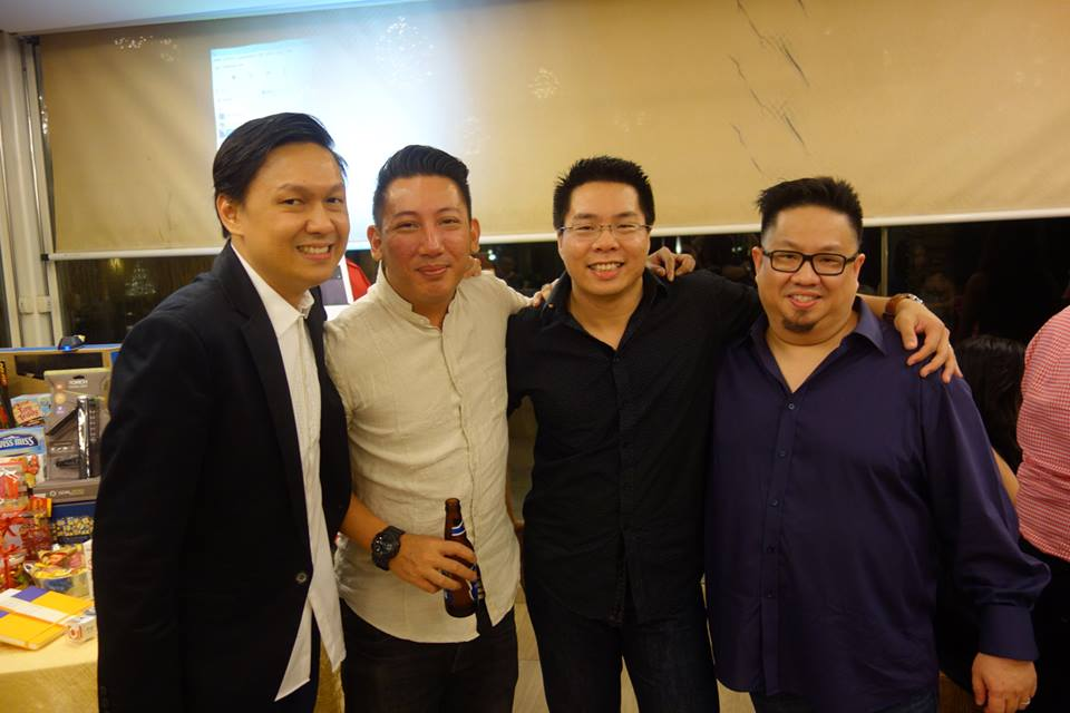 Warren Tan (most left) and Adrian Lim (2nd from right)