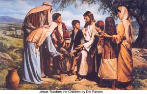 Del_Parson_Jesus_Teaches_the_Children_525