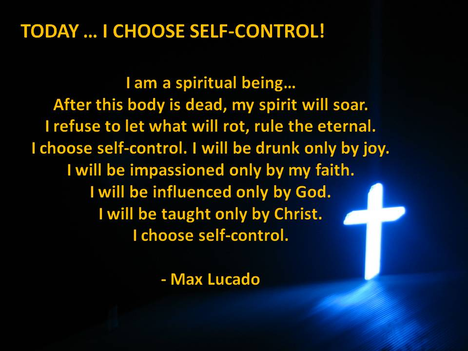 I choose self-control