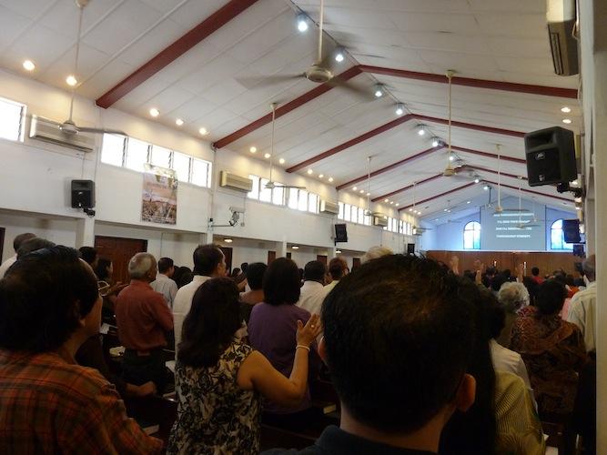 Worshiping in St Pauls Anglican Church