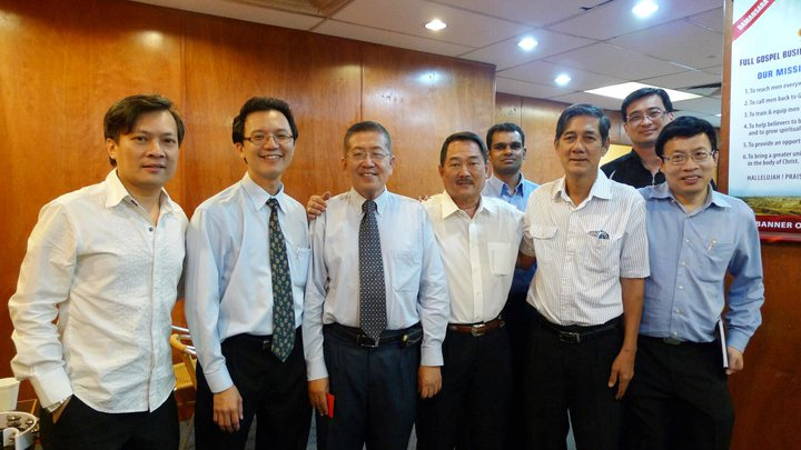 Michael Cheng (3rd from left) with the FGB brothers