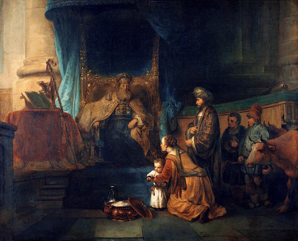 Gerbrand_van_den_Eeckhout_-_Anna_toont_haar_zoon_Samuël_aan_de_priester_Eli