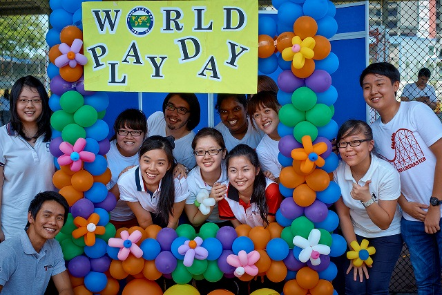 Volunteers of the Malaysian CARE World Play Day