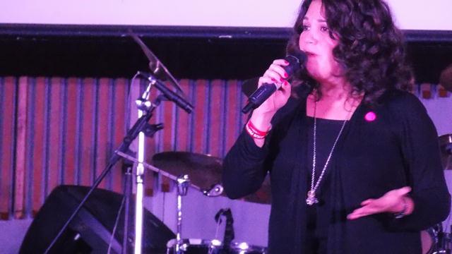 Pastor Michelle Dela Pena sharing the Word of God