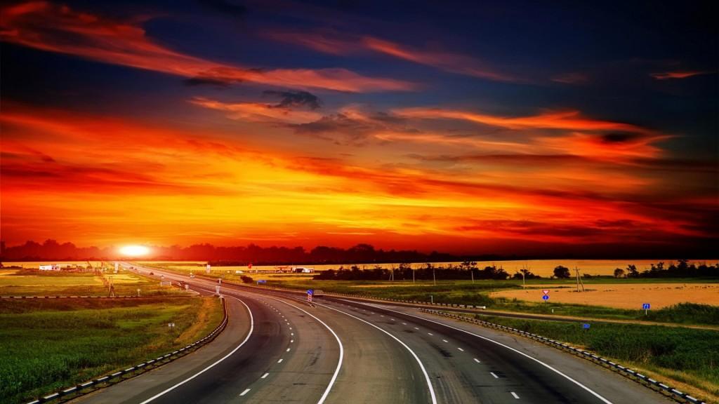 Sunset-Highway-Evening-Landscape-1080x1920