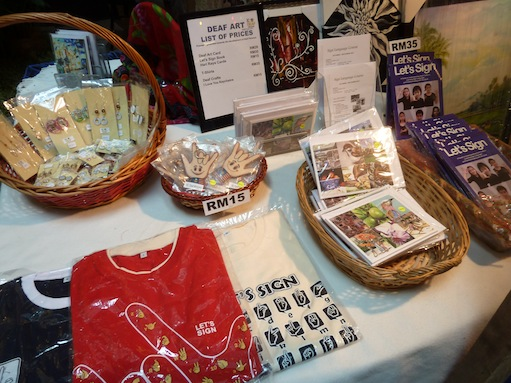 Merchandize sold in the RC Deaf Missions booth
