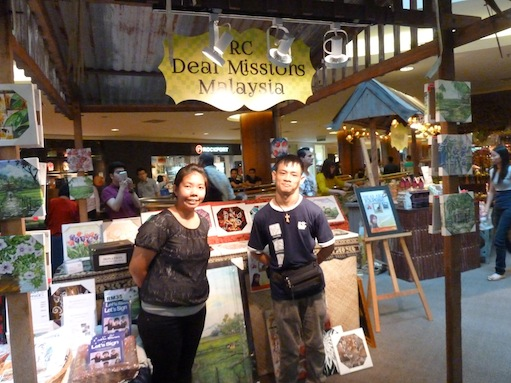 Mary Seng (left) with a RC Deaf Missions volunteer