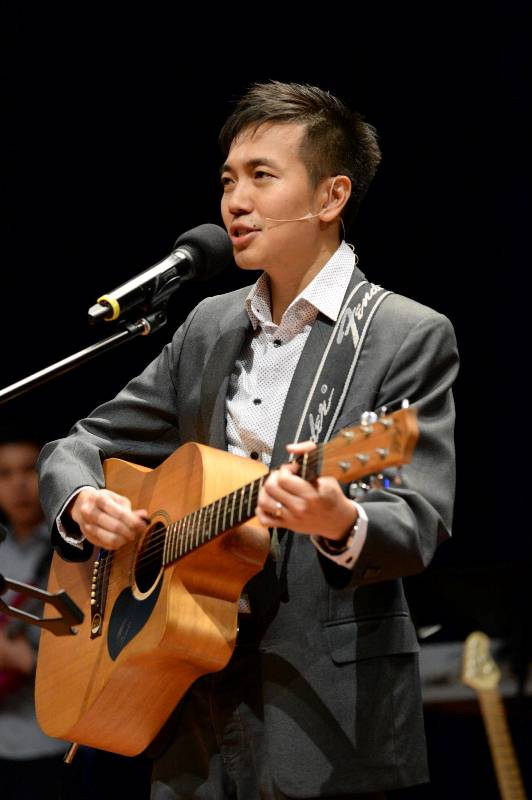 Pr Alex Tan singing a self-composed song of his love for God