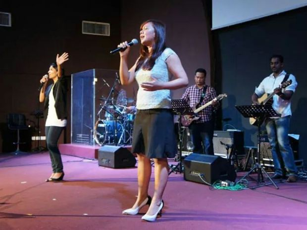 Worshipers from Grace Assembly Klang