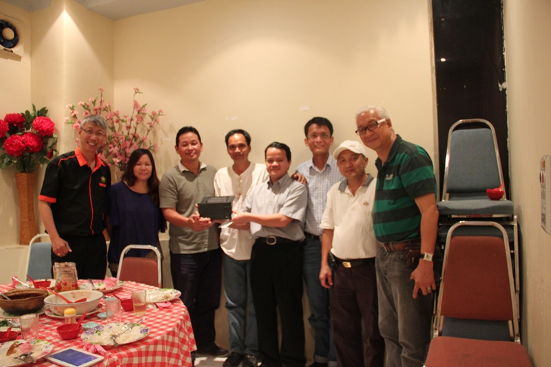 Anthony Ng (most left) with church leaders holding the Proclaimer