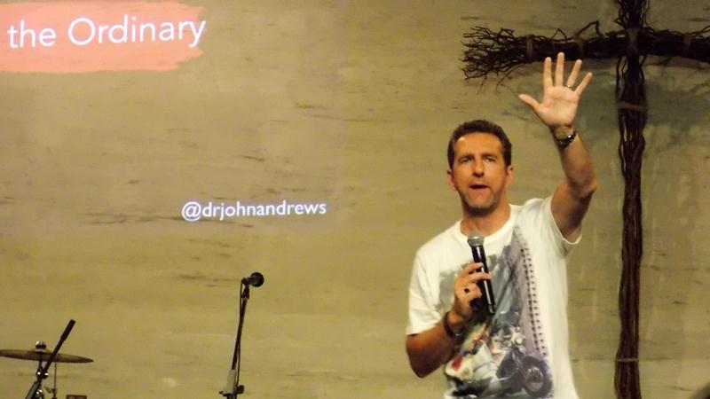 Pr Dr John Andrews sharing the good Word