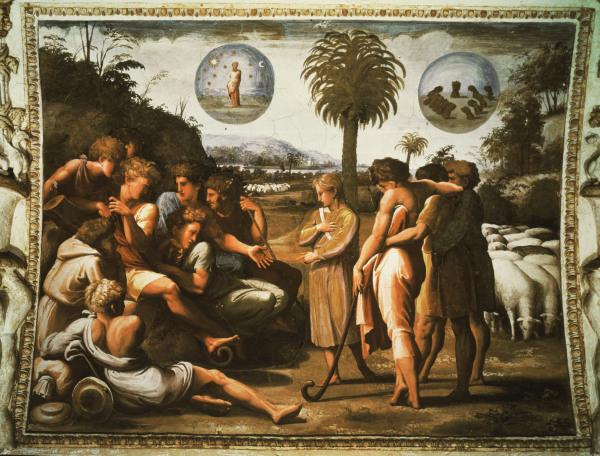 Raffael, Joseph erzaehlt Traum - Raphael /Joseph tells his dream /c.1515 - Raphael, Joseph raconte son reve