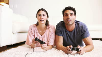 stock-footage-animation-of-a-couple-spending-time-together-in-their-living-room