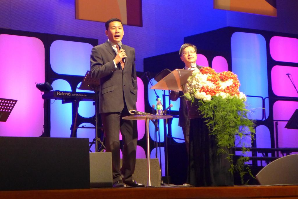 Pr Edmound Teo (left) on-stage