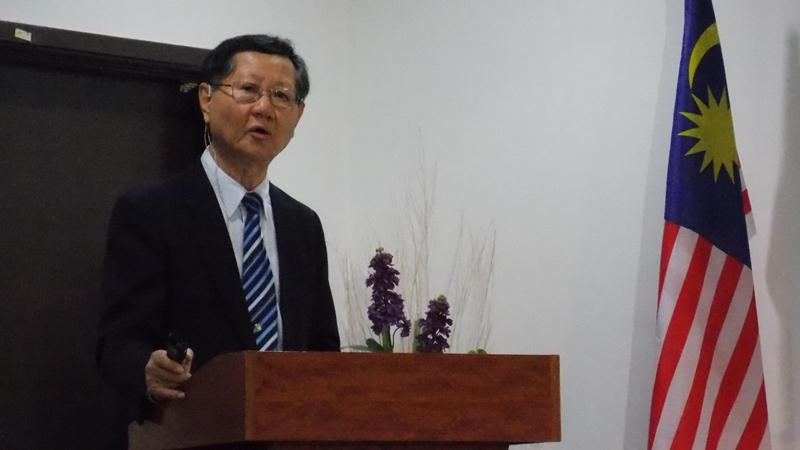 Pastor Dr Paul Chen expressing his appreciation to the church