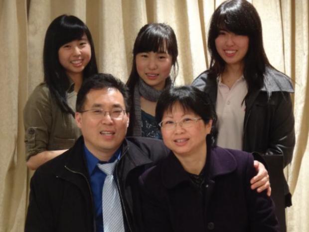 Tony Tay (Front row, left) and his family