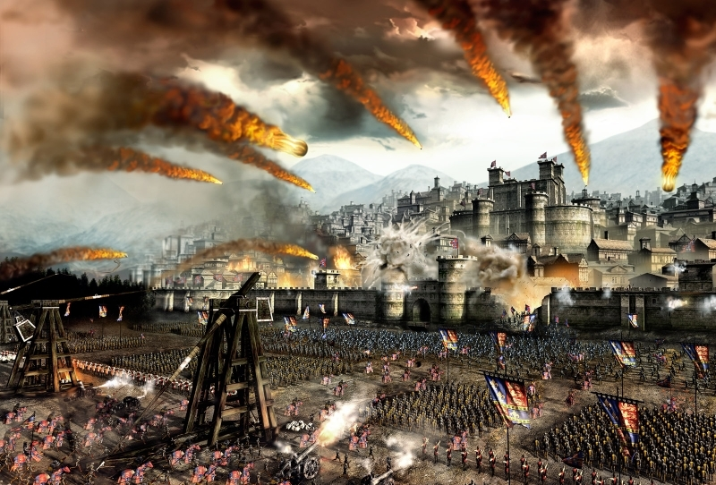 castles tower fire horses cannons siege medieval 2 total war 1600x1200 wallpaper_www.wall321.com_13