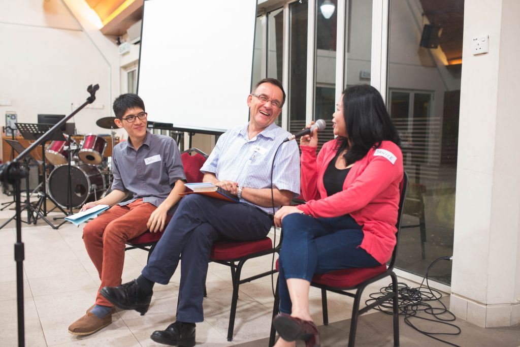 From left to right: John Woodhouse, Janice Chia, and Jeffri Chiam.