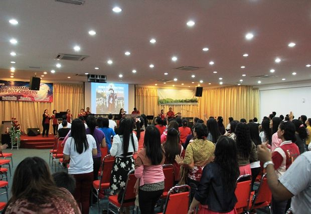 Worship at Harvest Revival Centre, Penang