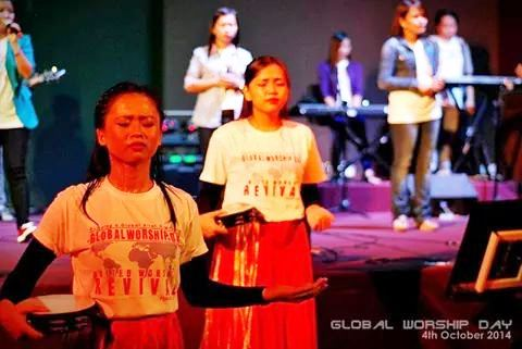 The dancers worshiping God at Bible College Malaysia