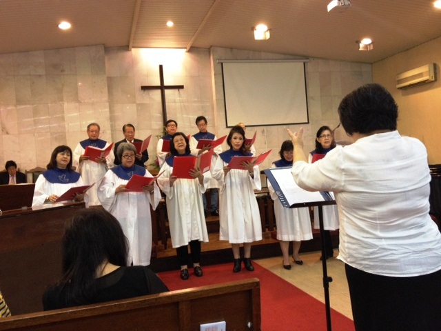 Choir of the Chinese Methodist (Cantonese) Church in Pudu, Kuala Lumpur