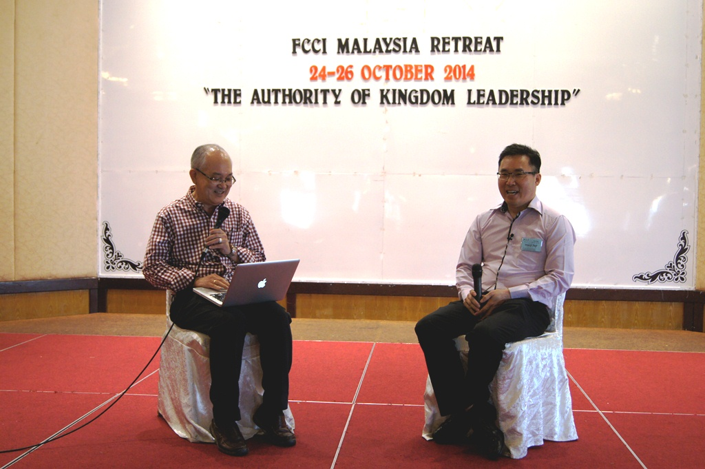 Pr Tony Tay (right) and Lim Kah Hooi, National Director of FCCI Malaysia