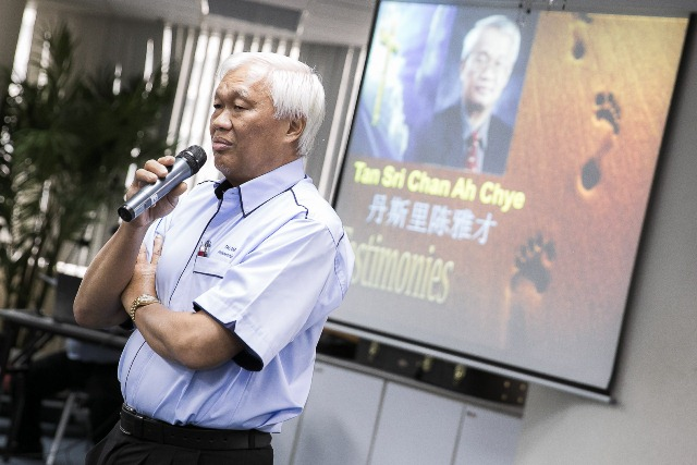 Tan Sri Chan Ah Chye sharing about the goodness of God