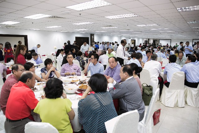 The Christmas luncheon for all the attendees after the sharing