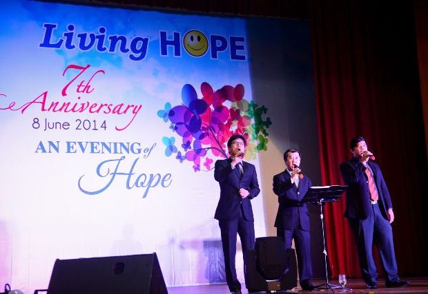 Tenors 4 Christ performing for the 7th Anniversary  Gala Dinner of Living HOPE