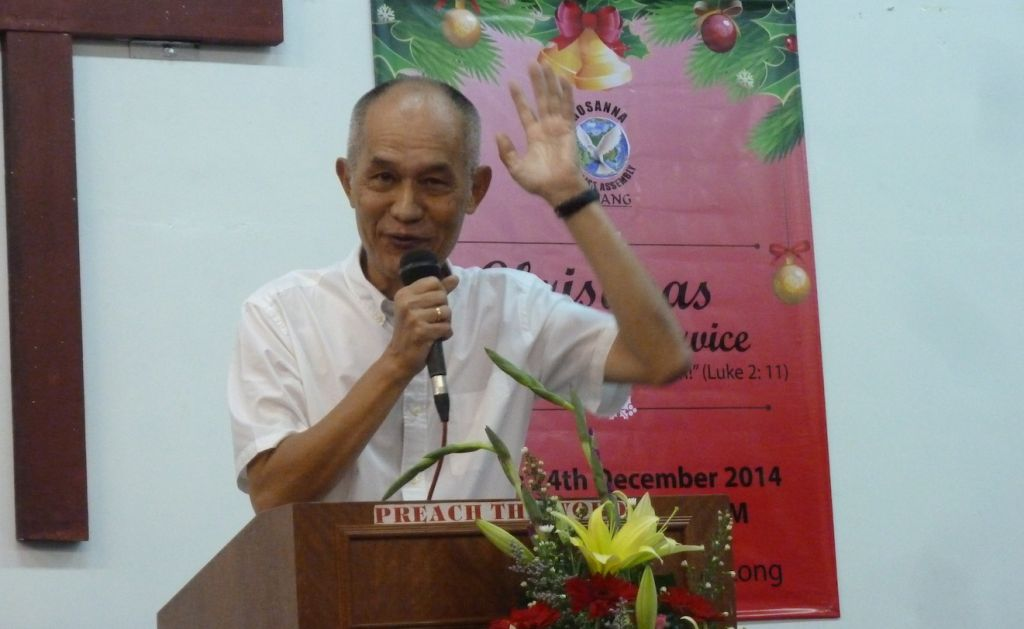 Pastor Tan Jooi Long at Hosanna Praise Assembly, Kajang