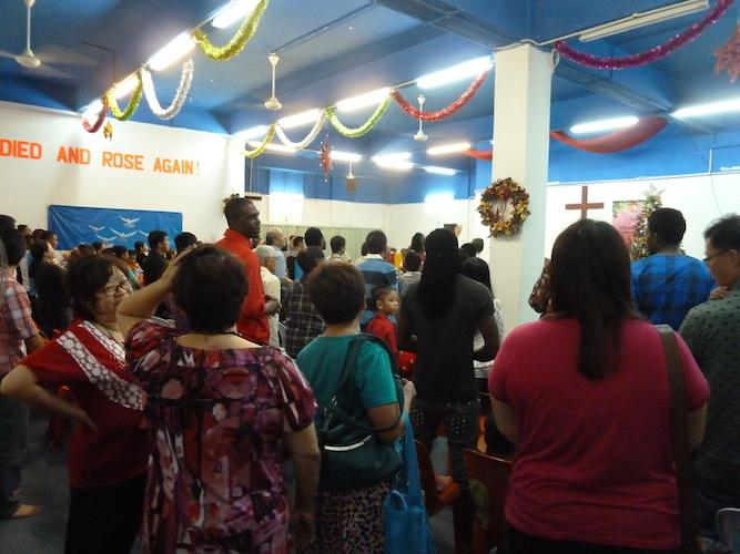 The congregation of Hosanna Praise Assembly in Kajang