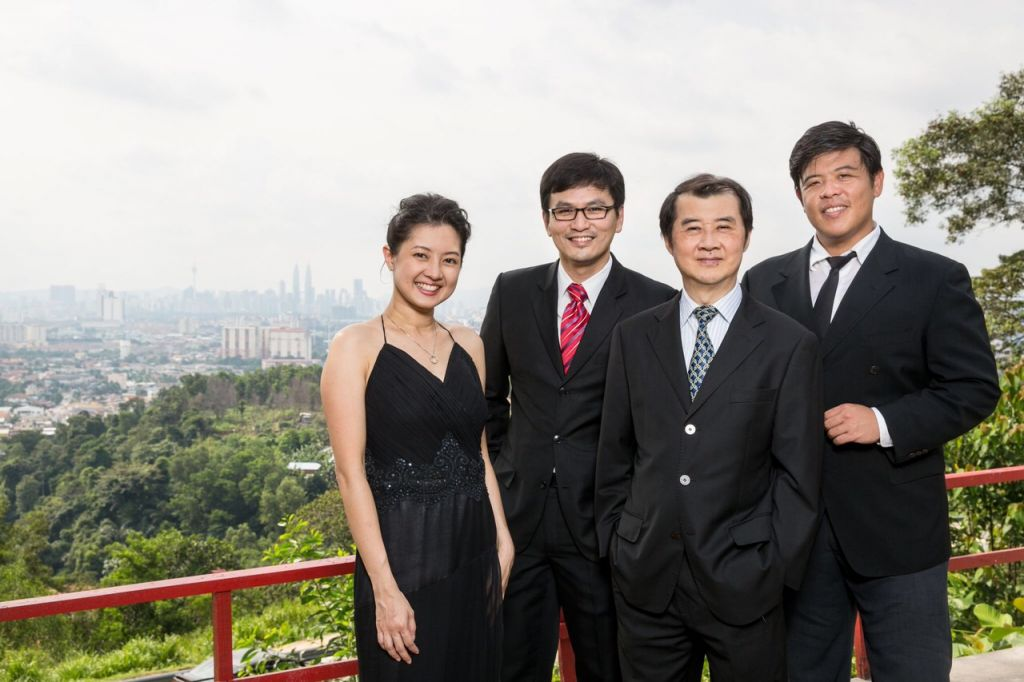 From left to right: Doreen Tang, Victor Chua, Tom Tan, and Josh Awang