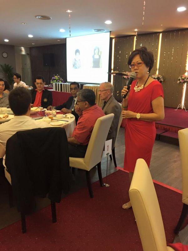 Dr Peggy Wong giving her speech