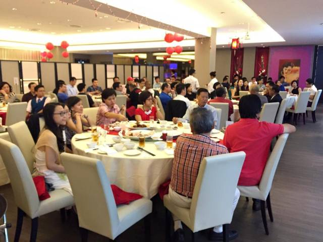 The mentors and mentees having a scrumptious meal in D'Fong Restaurant, sponsored by the FGBMF