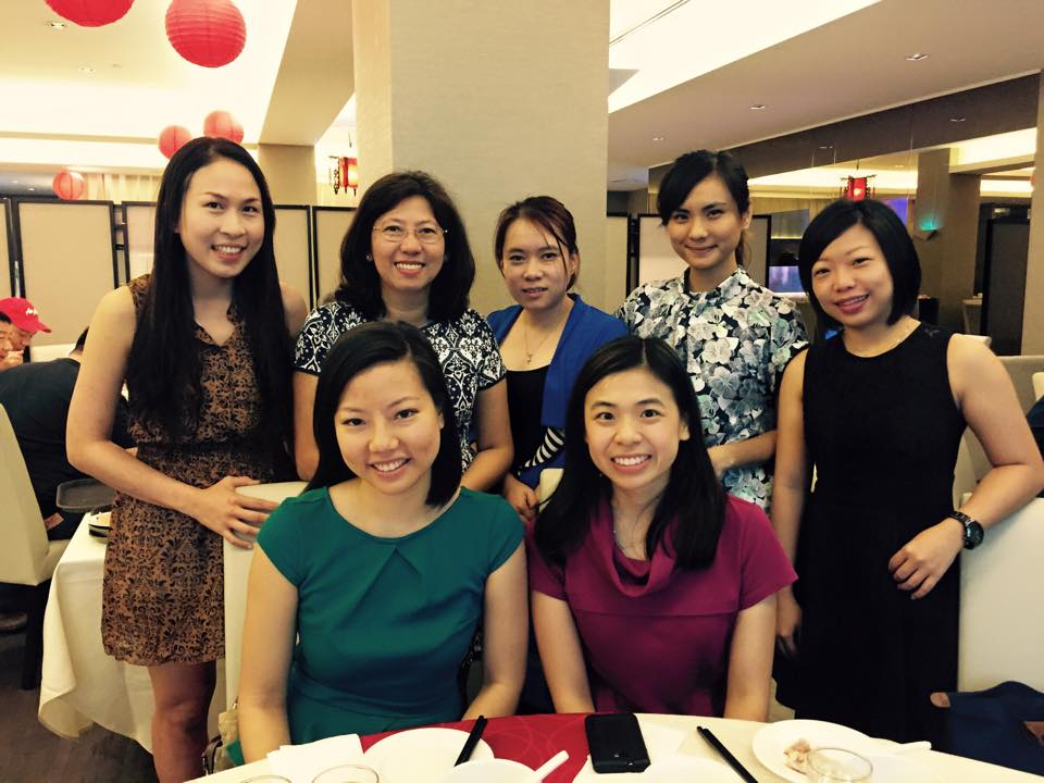 Christina Yong (Back Row, Second from left), one of the first batch of female mentors in the M2 program, with her group of mentees