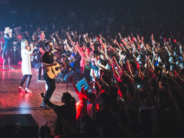 The night concert of the Planetshakers Awakening Conference in DUMC